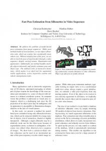 Fast Pose Estimation from Silhouettes in Video ... - Robot Vision