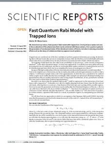 Fast Quantum Rabi Model with Trapped Ions