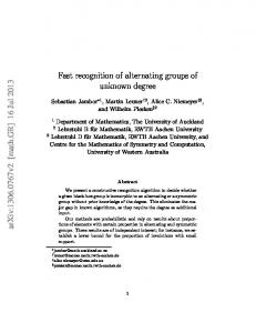 Fast recognition of alternating groups of unknown degree - arXiv
