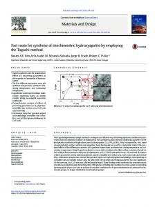 Fast route for synthesis of stoichiometric ...