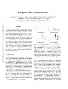 Fast Spectral Ranking for Similarity Search