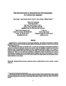 Fast Synchronization on Shared-Memory Multiprocessors: An ...