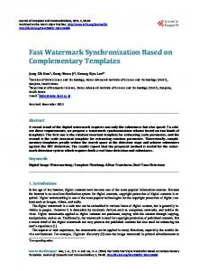 Fast Watermark Synchronization Based on Complementary Templates