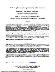 FastCam optomechanical system design and