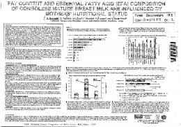 Fat content and essential fatty acid (EFA) composition ...