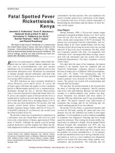 Fatal Spotted Fever Rickettsiosis, Kenya - Centers for Disease Control ...