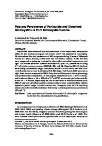 Fate and Persistence of Particulate and Dissolved Microcystin-LA from ...