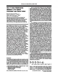 Fate of Linear Alkylbenzenes Released to the ... - ACS Publications