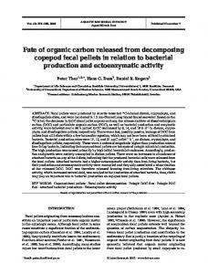 Fate of organic carbon released from decomposing copepod fecal ...