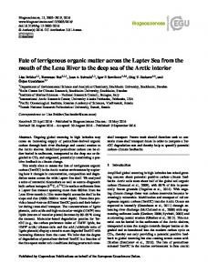 Fate of terrigenous organic matter across the Laptev ... - Biogeosciences