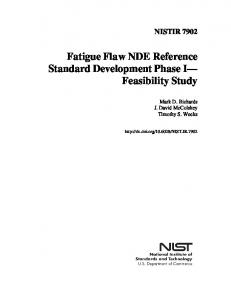 Fatigue Flaw NDE Reference Standard Development ... - NIST Page