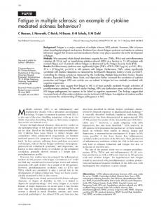 Fatigue in multiple sclerosis: an example of ... - PubMed Central Canada
