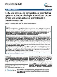 Fatty acid-amino acid conjugates are essential for systemic activation ...