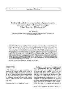 Fatty acid and sterol composition of gametophytes and ... - Dialnet