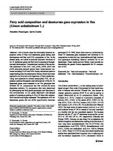 Fatty acid composition and desaturase gene expression in flax (Linum ...