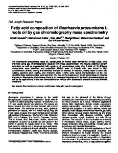 Fatty acid composition of Boerhaavia ... - Academic Journals