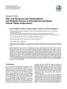 Fatty Acid Desaturase Gene Polymorphisms and Metabolic Measures ...