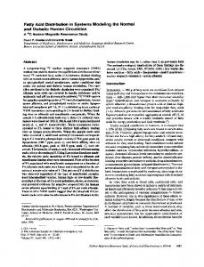 Fatty Acid Distribution in Systems Modeling the Normal ... - Europe PMC