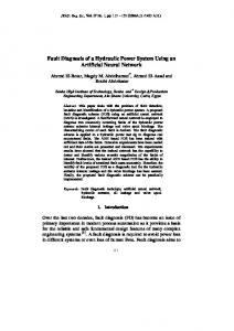 Fault Diagnosis of a Hydraulic Power System ... - Semantic Scholar