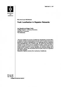 Fault Localization in Bayesian Networks