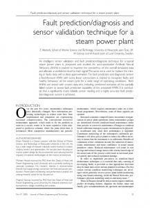 Fault prediction/diagnosis and sensor validation technique for a steam ...
