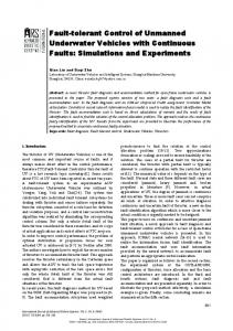 Fault-tolerant Control of Unmanned Underwater