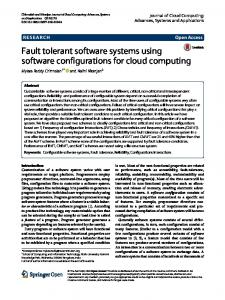 Fault Tolerant Software Systems Using Software Configurations for ...