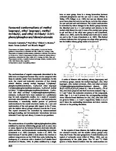 Favoured conformations of methyl isopropyl, ethyl isopropyl, methyl ...