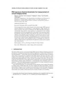 FBX aqueous chemical dosimeter for ... - Wiley Online Library