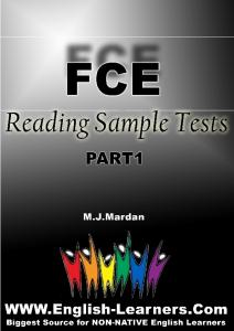 FCE Reading Sample Tests, Part 1 - English-Learners