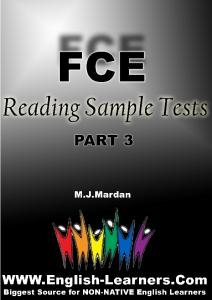 FCE Reading Sample Tests, Part 3 - English-Learners