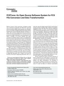 FCSTrans: An open source software system for FCS file conversion ...