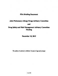 FDA Briefing Document Joint Pulmonary-Allergy Drugs ...