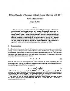 FDMA-Capacity of Gaussian Multiple Access Channels ... - CiteSeerX