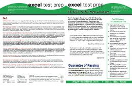FE and PE Prep Courses - Excel Test Prep