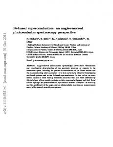 Fe-based superconductors: an angle-resolved photoemission ...