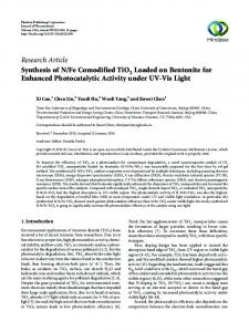 Fe Comodified TiO2 Loaded on Bentonite for