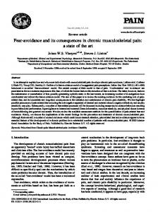 Fear-avoidance and its consequences in chronic ... - Semantic Scholar