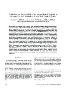 Feasibility and Acceptability of an Internet-Based Program to Promote ...