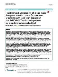 Feasibility and acceptability of group music