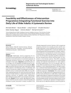 Feasibility and Effectiveness of Intervention