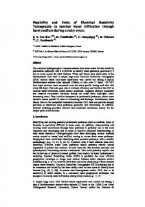 Feasibility and limits of Electrical Resistivity ...