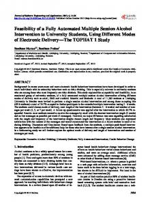 Feasibility of a Fully Automated Multiple Session Alcohol Intervention