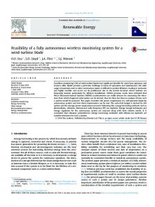 Feasibility of a fully autonomous wireless monitoring system for ... - Core