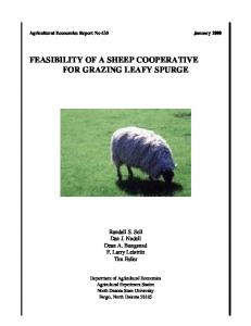 feasibility of a sheep cooperative for grazing leafy ... - AgEcon Search