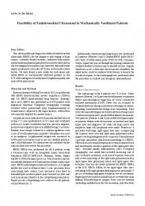 Feasibility of Endobronchial Ultrasound in Mechanically Ventilated ...