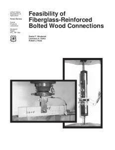 Feasibility of Fiberglass-Reinforced Bolted Wood Connections