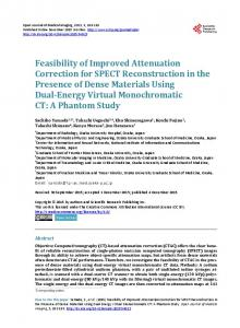 Feasibility of Improved Attenuation Correction for SPECT ...