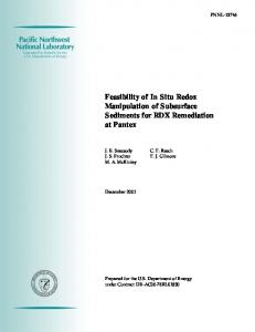 Feasibility of In Situ Redox Manipulation of Subsurface Sediments for ...