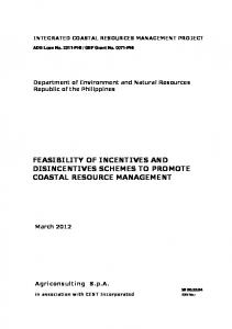 feasibility of incentives and disincentives schemes to